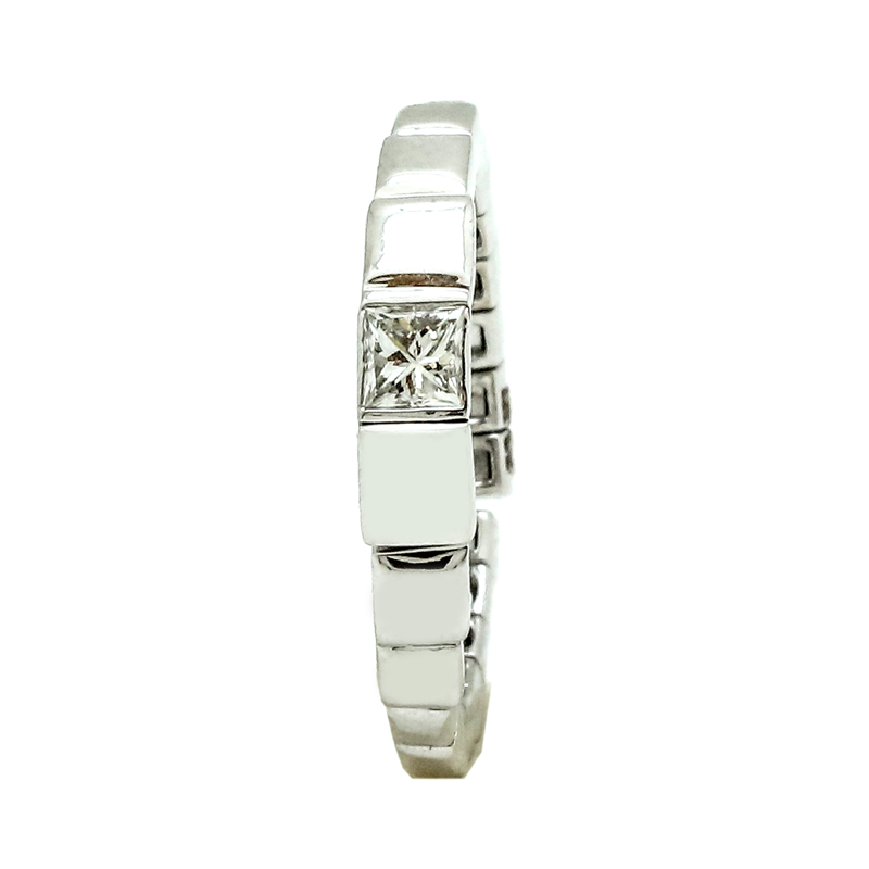 Cube | White gold ring with a diamond | Men