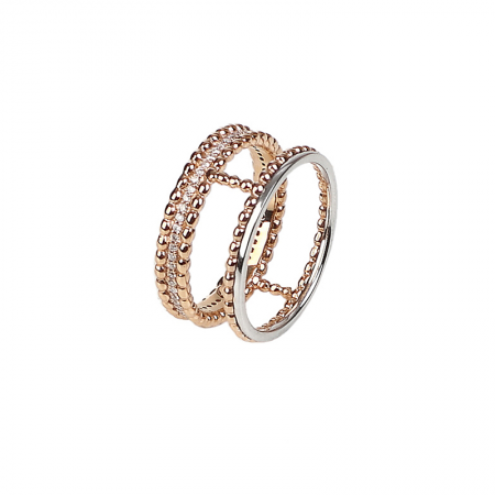 Bubble | Rose gold and white gold ring | For Women