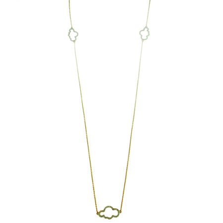 Cloudy | White gold necklace with diamond cloud | For Women