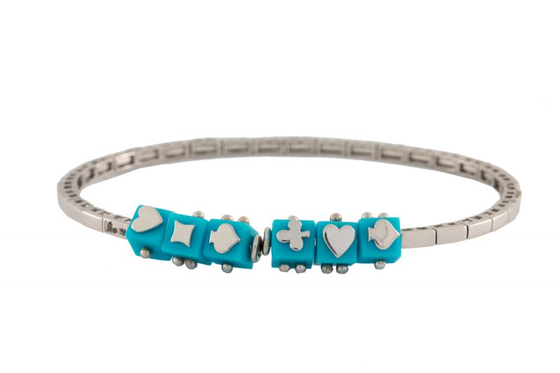 Cube | Turquoise Playing Card Suits Bracelet | Unisex