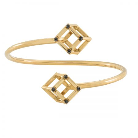 Cube | Double Yellow Cube bracelet | For Women