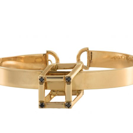 Cube | Yellow gold bracelet with Cube | For Women