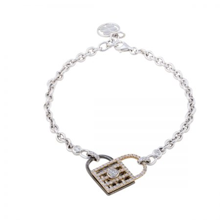 Unlock My Heart | White Gold bracelet | For Women