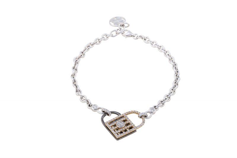 Unlock My Heart | White Gold bracelet | For Women