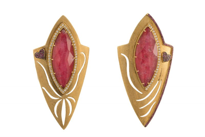 Marquise | Red Stone earrings | For Women