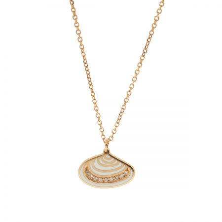 Mini U | Rose gold and white shell necklace | For Women