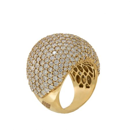 Diamonds | Yellow gold ring with full diamonds | For Women