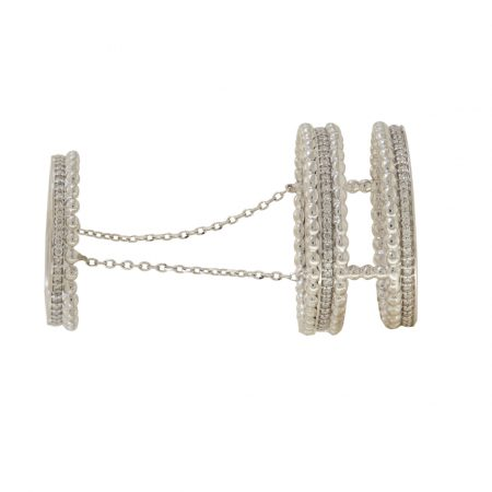 Bubble | White gold triple ring | For Women