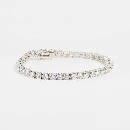 Tennis | White gold bracelet with white diamonds | Men