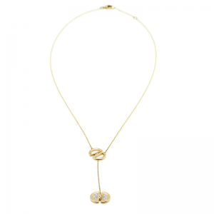 Ladybug | Yellow gold necklace with DD diamond logo | For Women