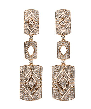 Diamonds | Yellow gold earrings with diamonds | For Women