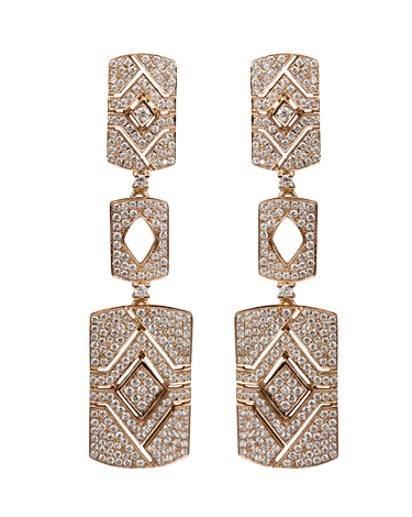 Diamonds | Yellow gold earrings with diamonds | For Women