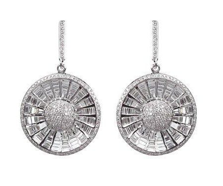 Diamonds | White gold earrings with diamonds | For Women