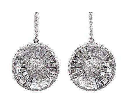 Diamonds   White gold earrings with diamonds   For Women